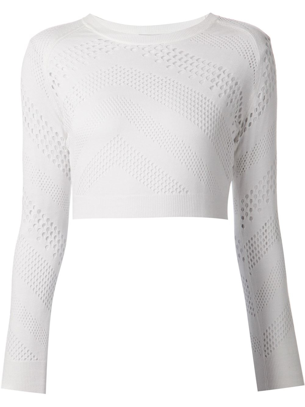 Iro Cropped Open Knit Sweater in White | Lyst