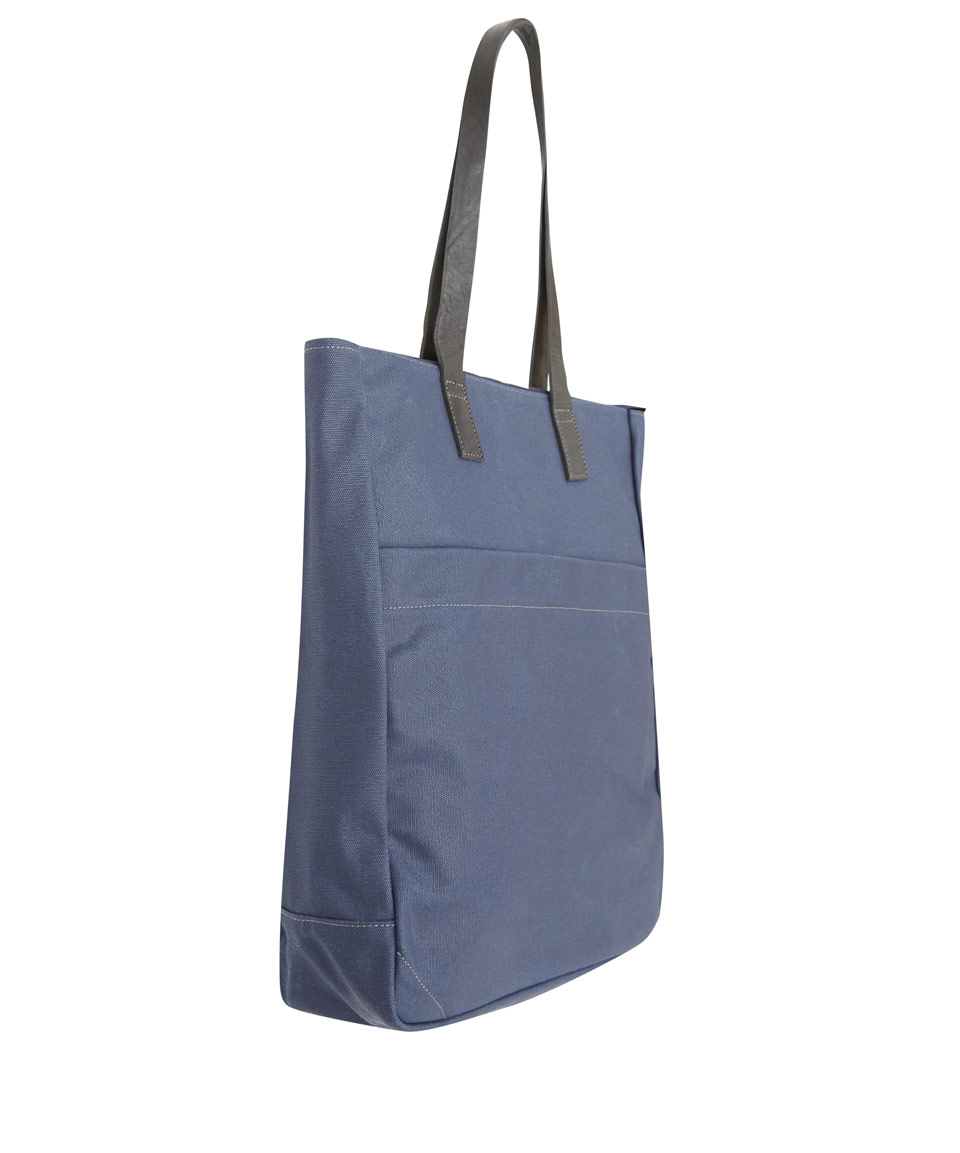 Ally capellino Navy Luke Canvas Tote Bag in Blue for Men | Lyst