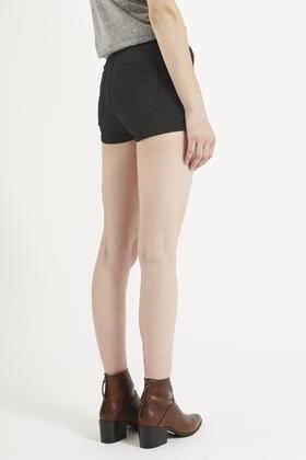2ccad1c1db TOPSHOP Moto Black Joni Shorts in Black - Lyst