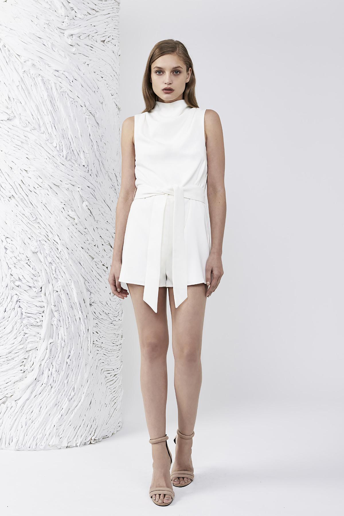 5c99328343d8 Lyst - Keepsake Essence Playsuit in White