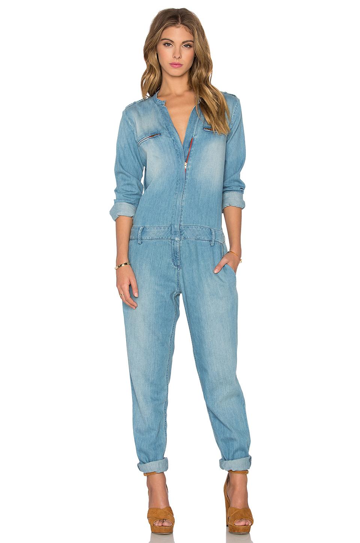 Etienne marcel Long Sleeve Jumpsuit in Blue | Lyst