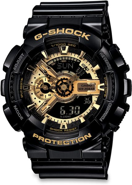 g shock classic series analog digital in gold for