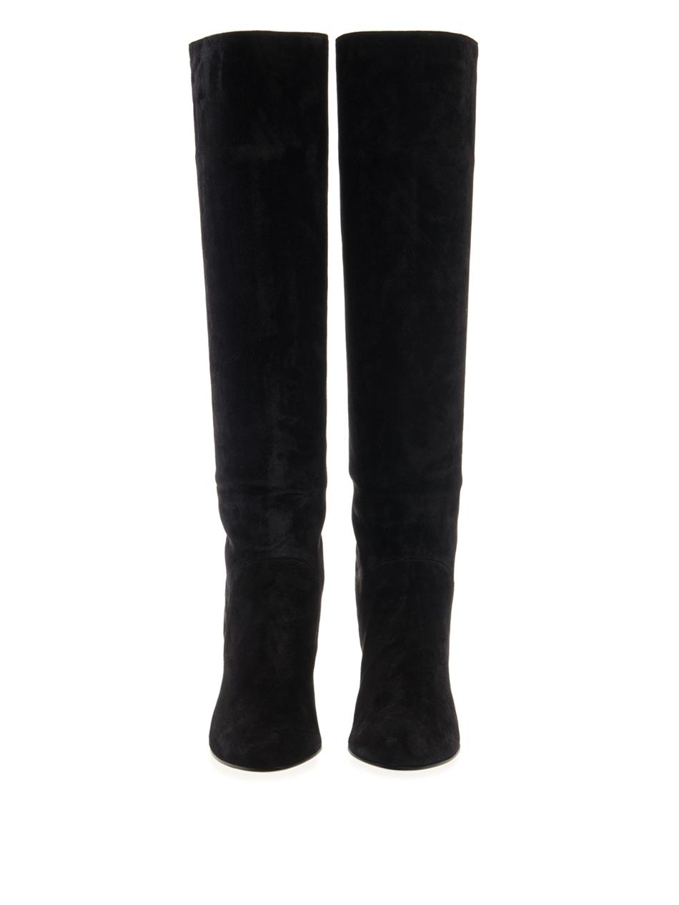 Lanvin Suede Over-The-Knee Boots outlet factory outlet uN2yjxNiy