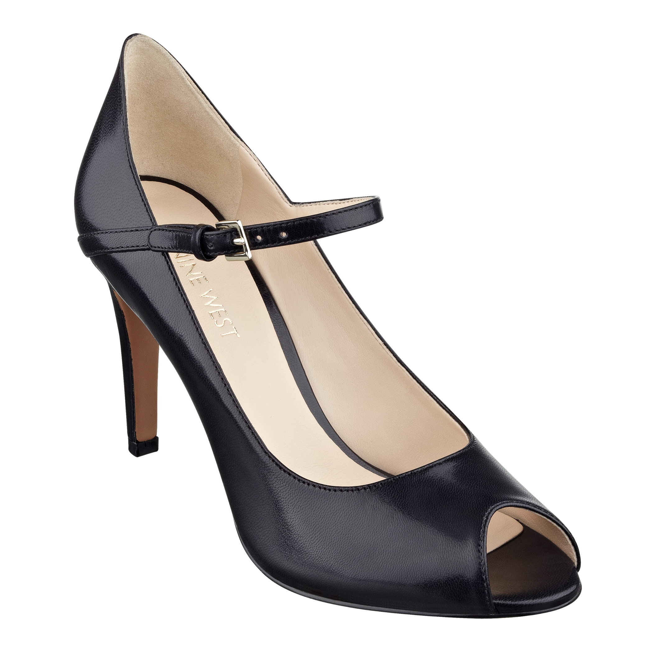 Nine West Deardiary Mary Jane Pump In Black Black Leather