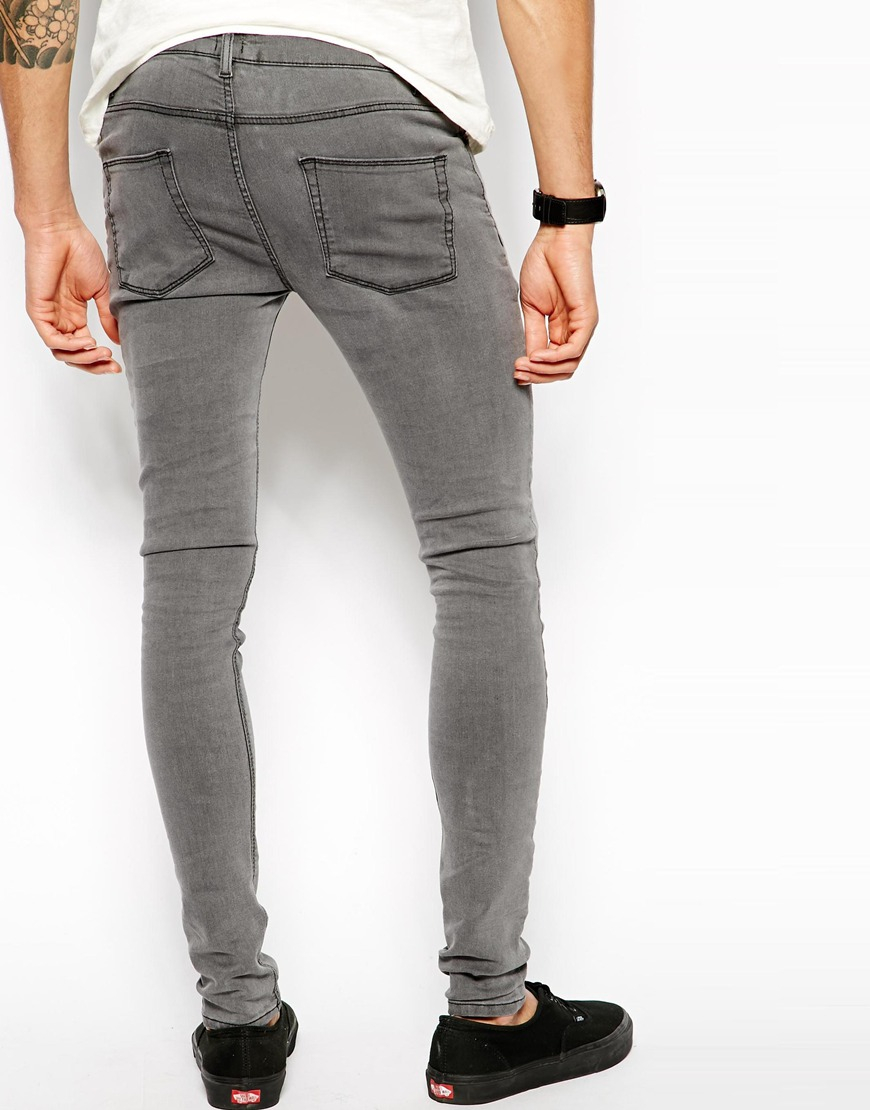 8c37dadd883 Lyst - ASOS Extreme Super Skinny Jeans In Light Grey in Gray for Men