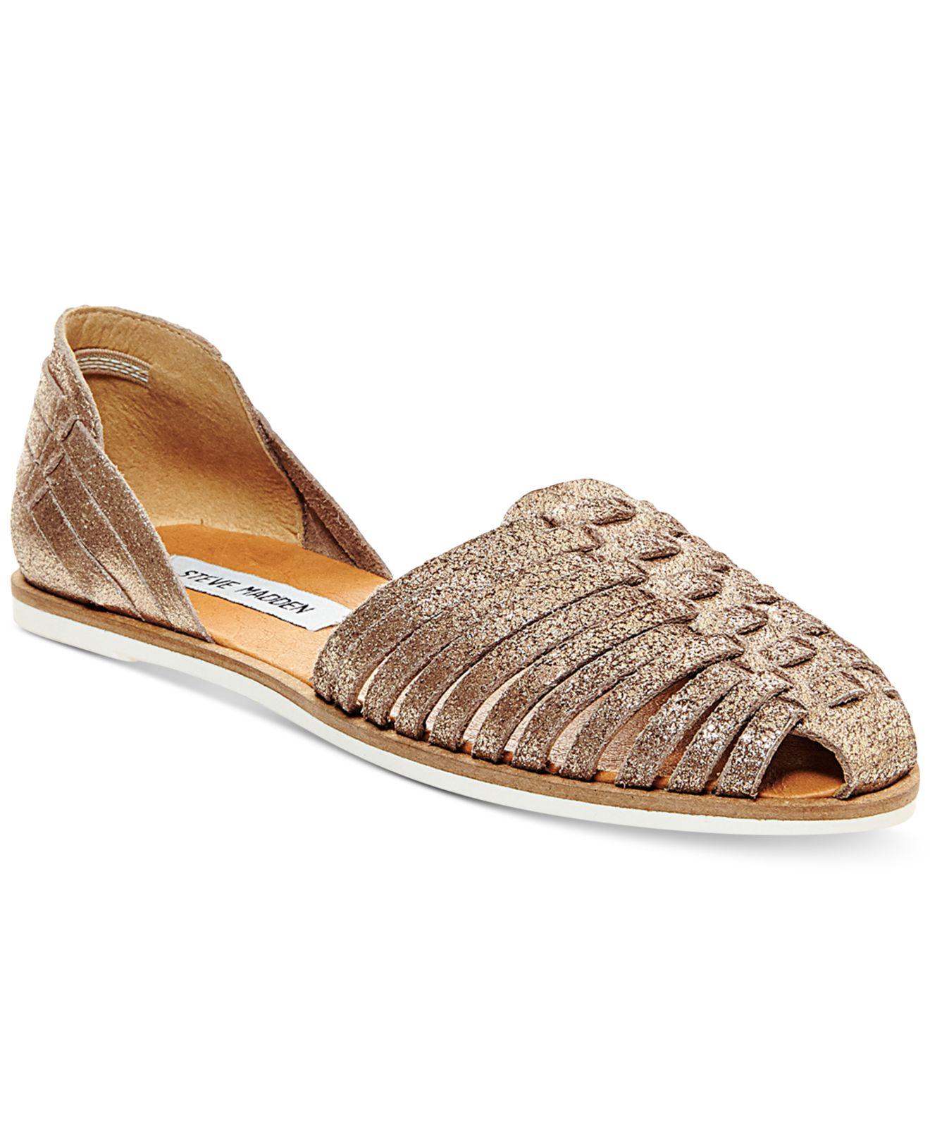 415c908a0594 Lyst - Steve Madden Women s Hillarie Huarache Slip-on Sandals in ...