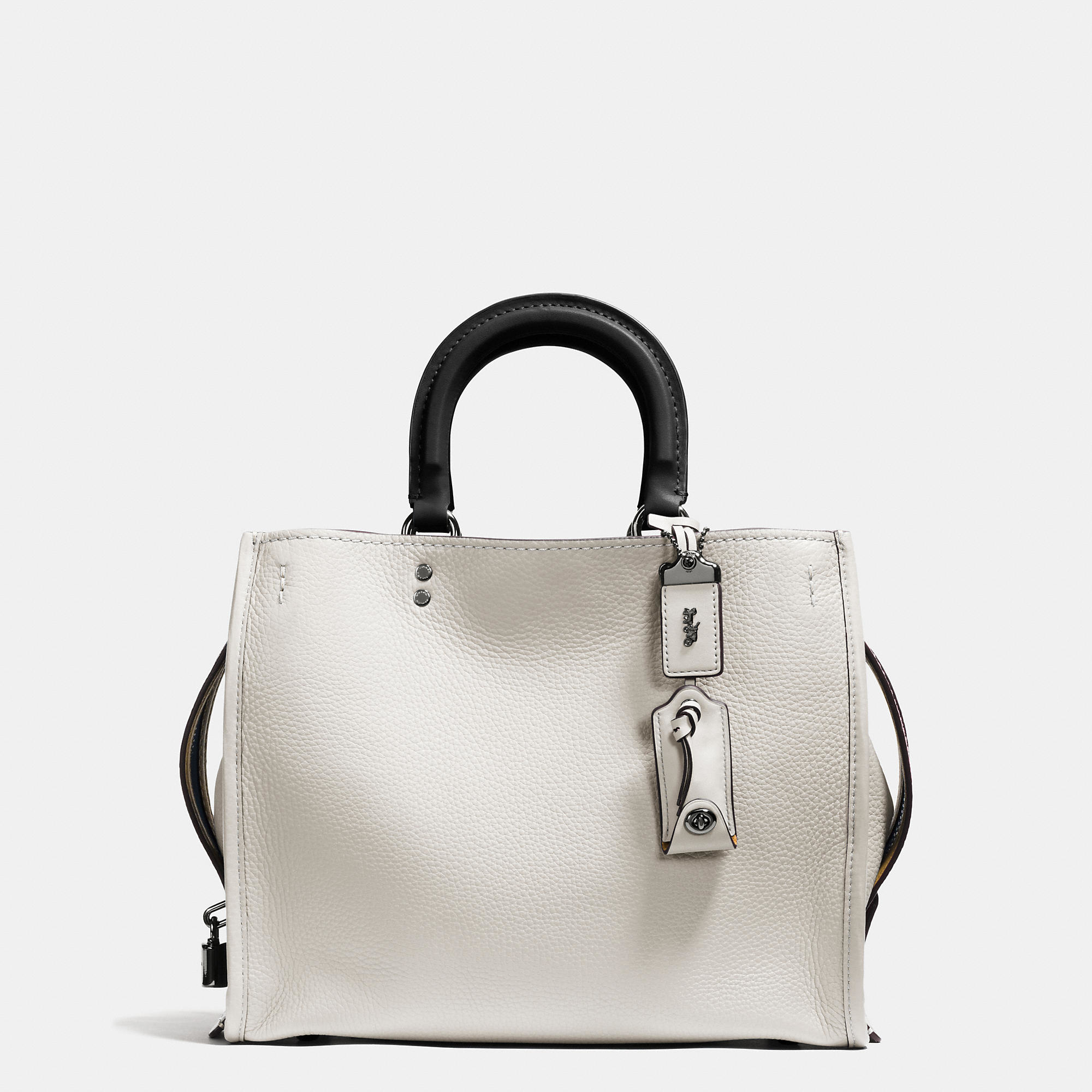 Lyst - COACH Rogue Bag In Glovetanned Pebble Leather in White 50d4feaf87