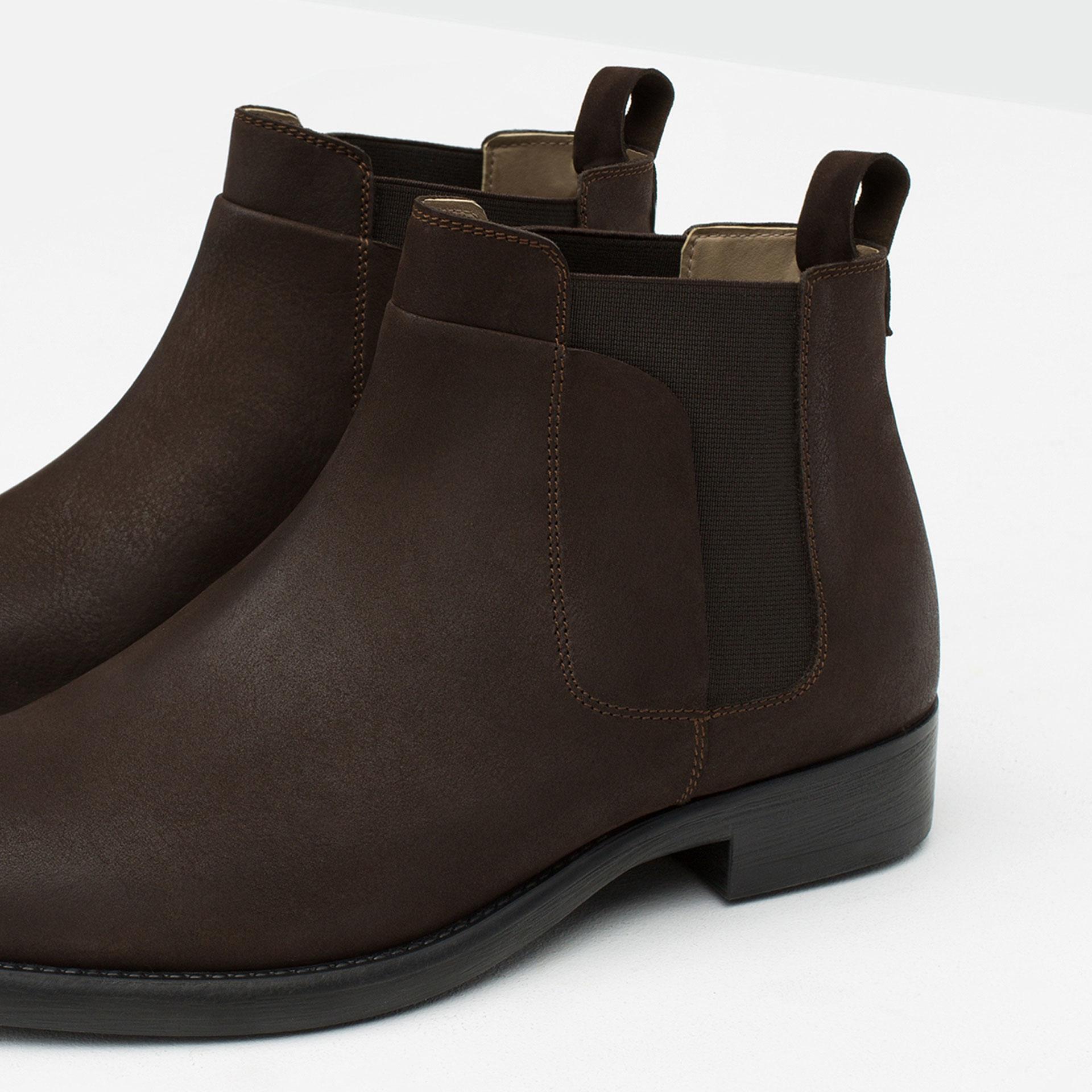 photos officielles e96d5 35d92 Boots Chelsea Chaussures Mode Homme Shopping chelsea Zara fyb76g