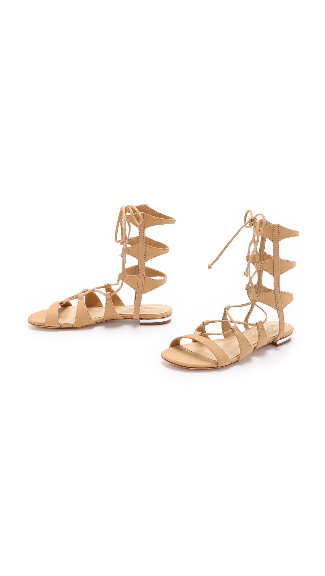 03f17eb31e76 Lyst - Schutz Erlina Lace Up Sandals - Light Wood in Natural
