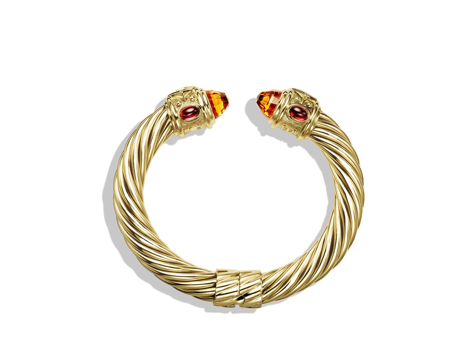 David Yurman Renaissance Bracelet With Citrine And Iolite