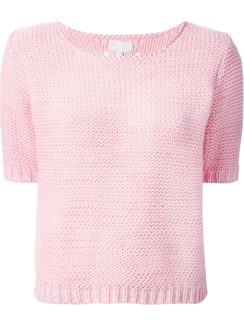 Lala berlin Short Sleeve Sweater in Pink | Lyst