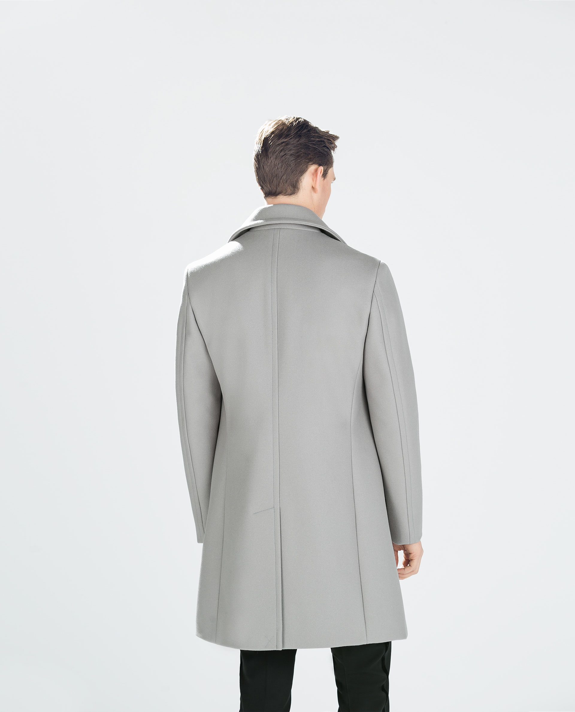 Zara Light Grey Coat In Gray For Men Light Grey Lyst