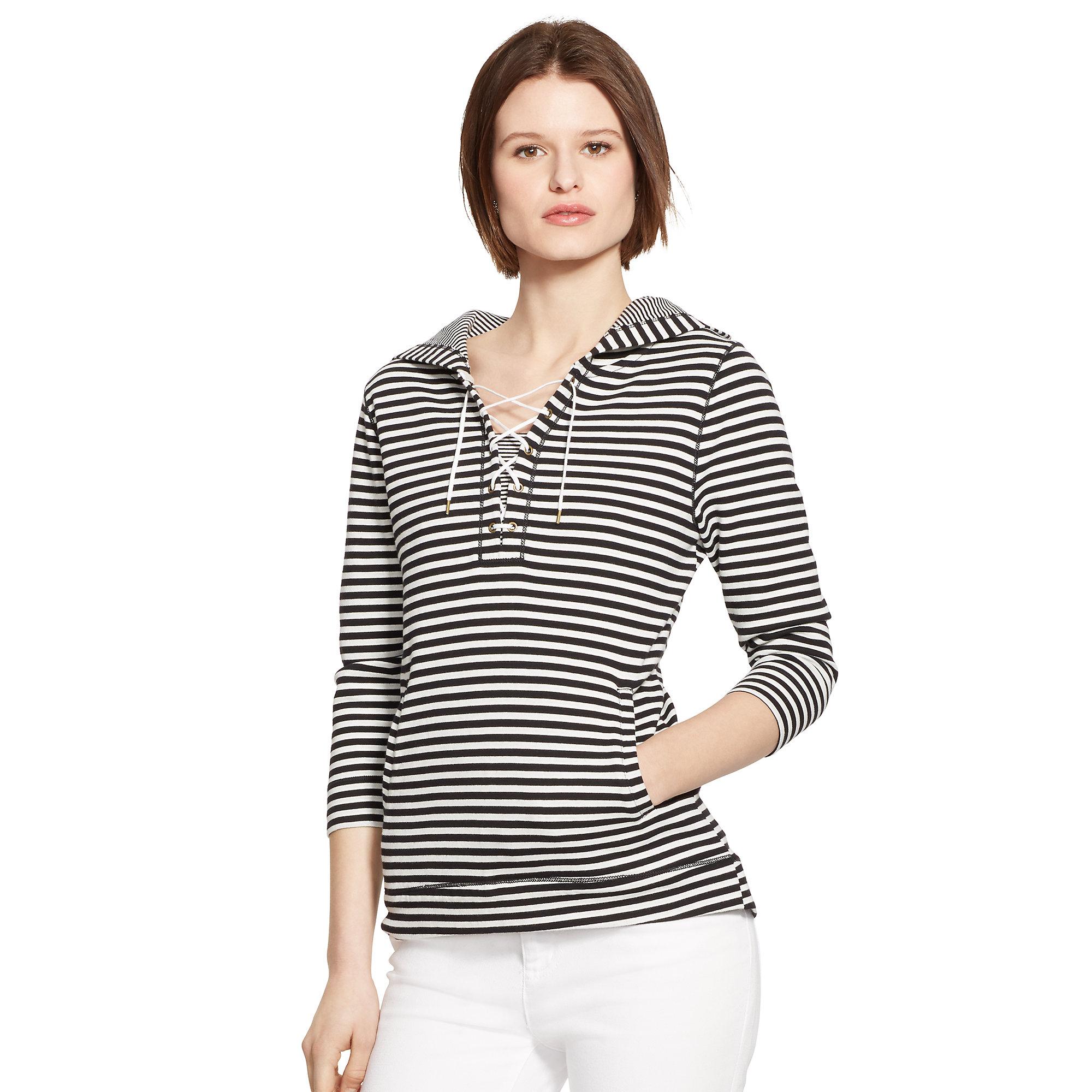 Ralph lauren striped hoodie