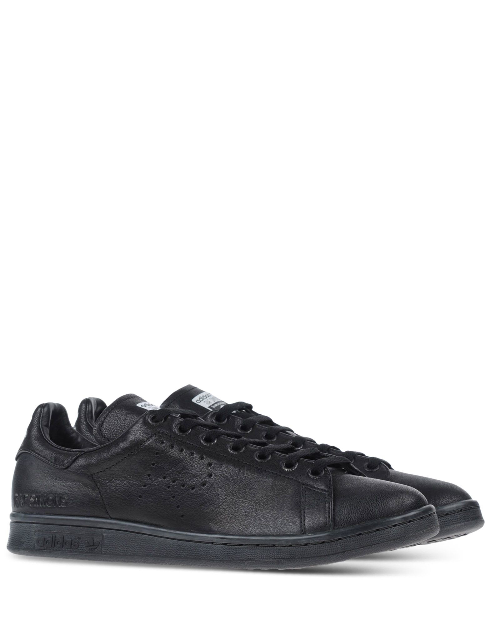 raf simons low top leather sneakers in black for men lyst. Black Bedroom Furniture Sets. Home Design Ideas