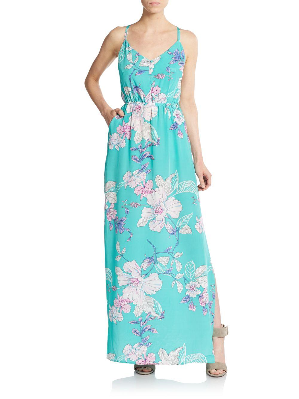 c48bf2cf15f0 Yumi Kim Malu Floral-print Silk Maxi Dress in Blue - Lyst