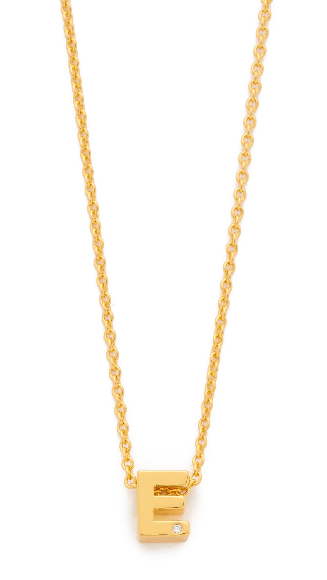 Lyst  Gorjana Shimmer Block Letter Necklace In Metallic