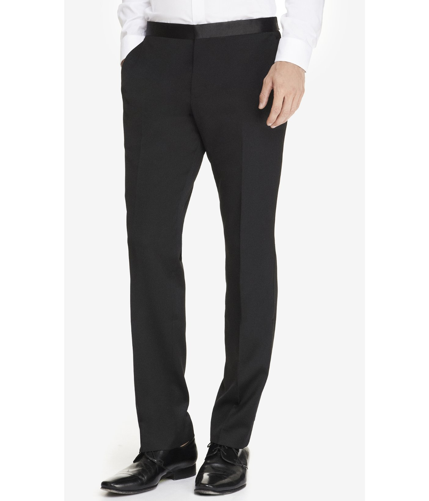 Express Slim Tuxedo Black Pant in Black for Men | Lyst