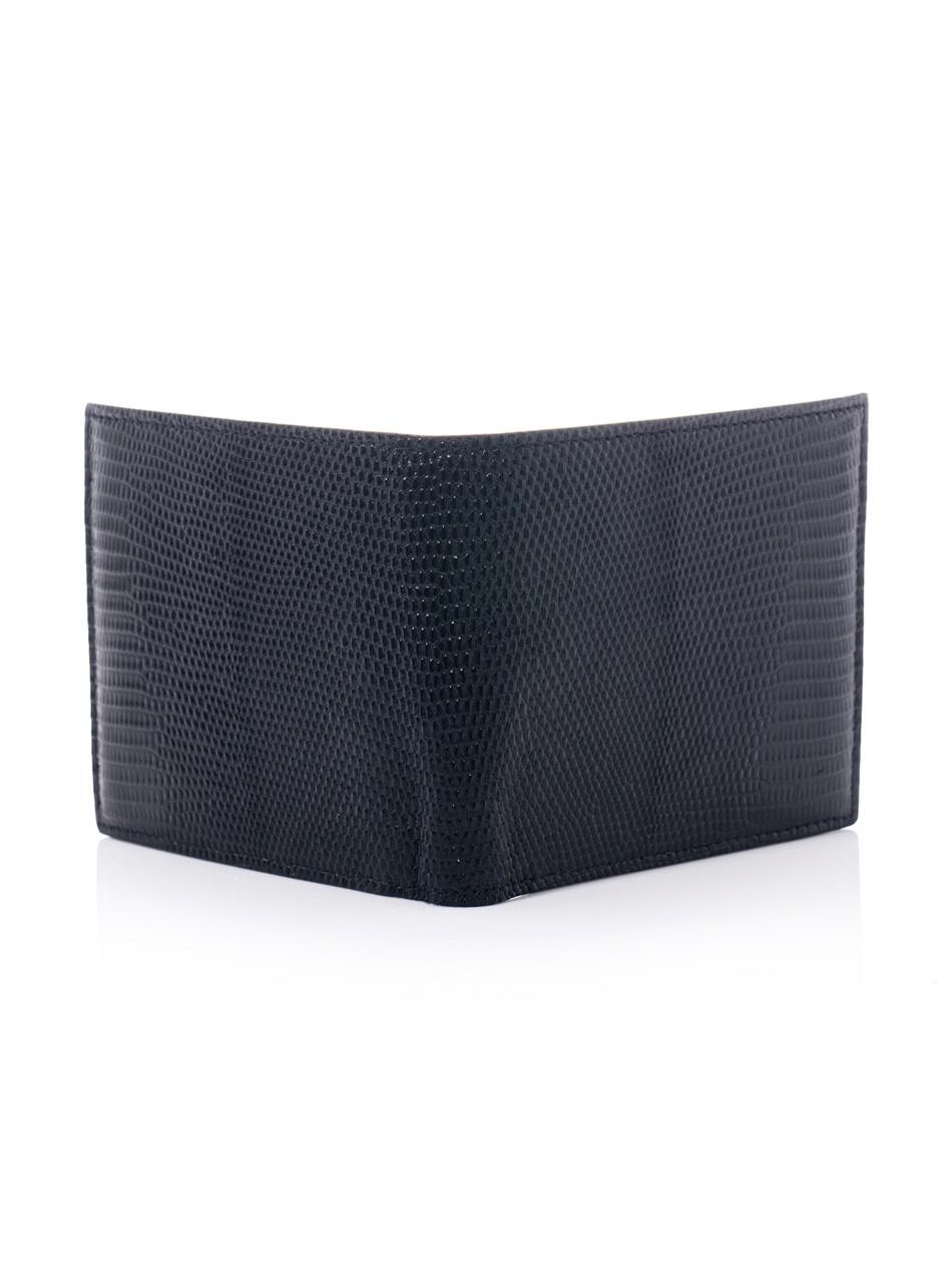 622ac39f295c Bottega Vea Lizard Bifold Wallet In Black For Men Lyst