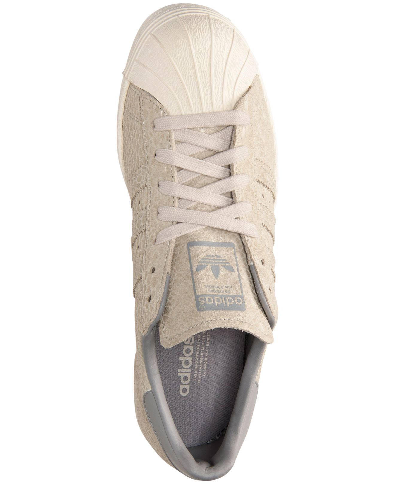 ddb82a1f9 Lyst - adidas Originals Women s Superstar  80s Casual Sneakers From Finish  Line in Gray