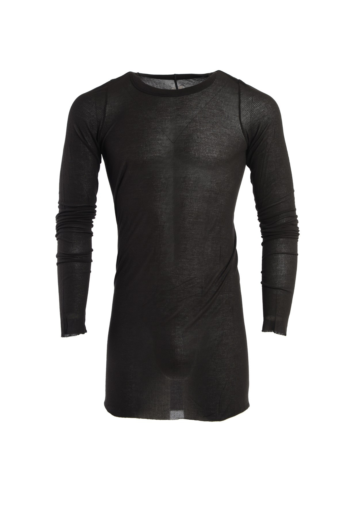 Rick Owens Extra Long T Shirt In Black For Men Lyst