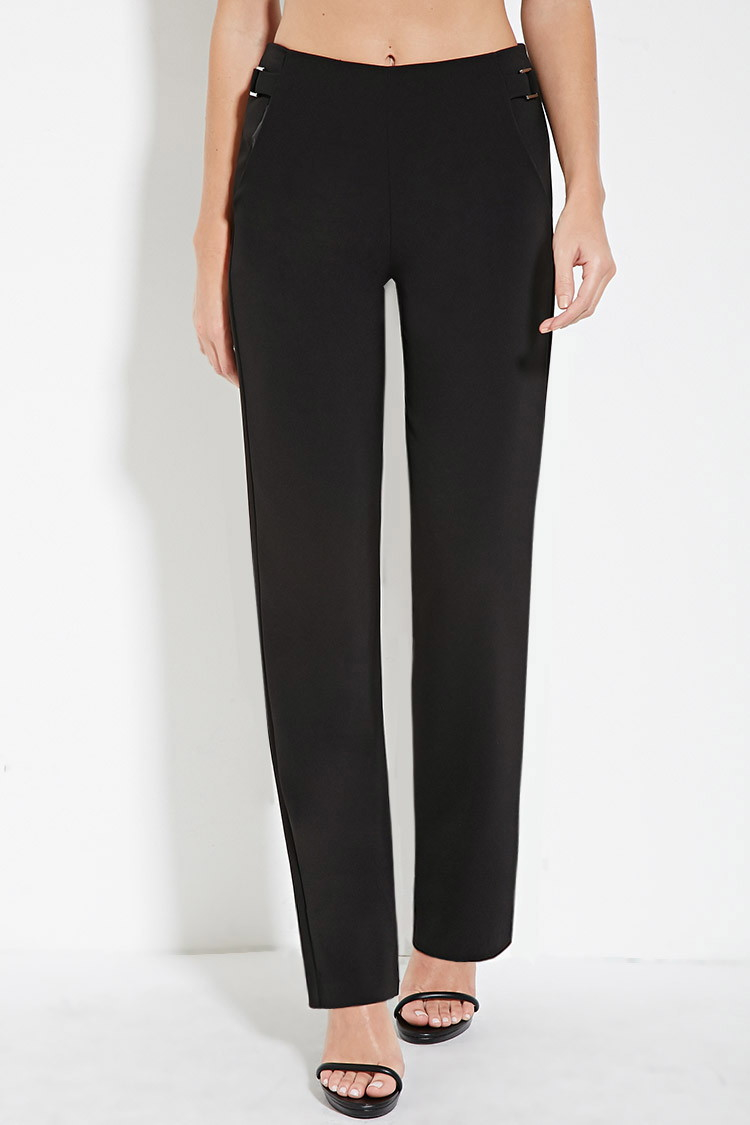 Gallery - Forever 21 High-waisted Pants In Black Lyst