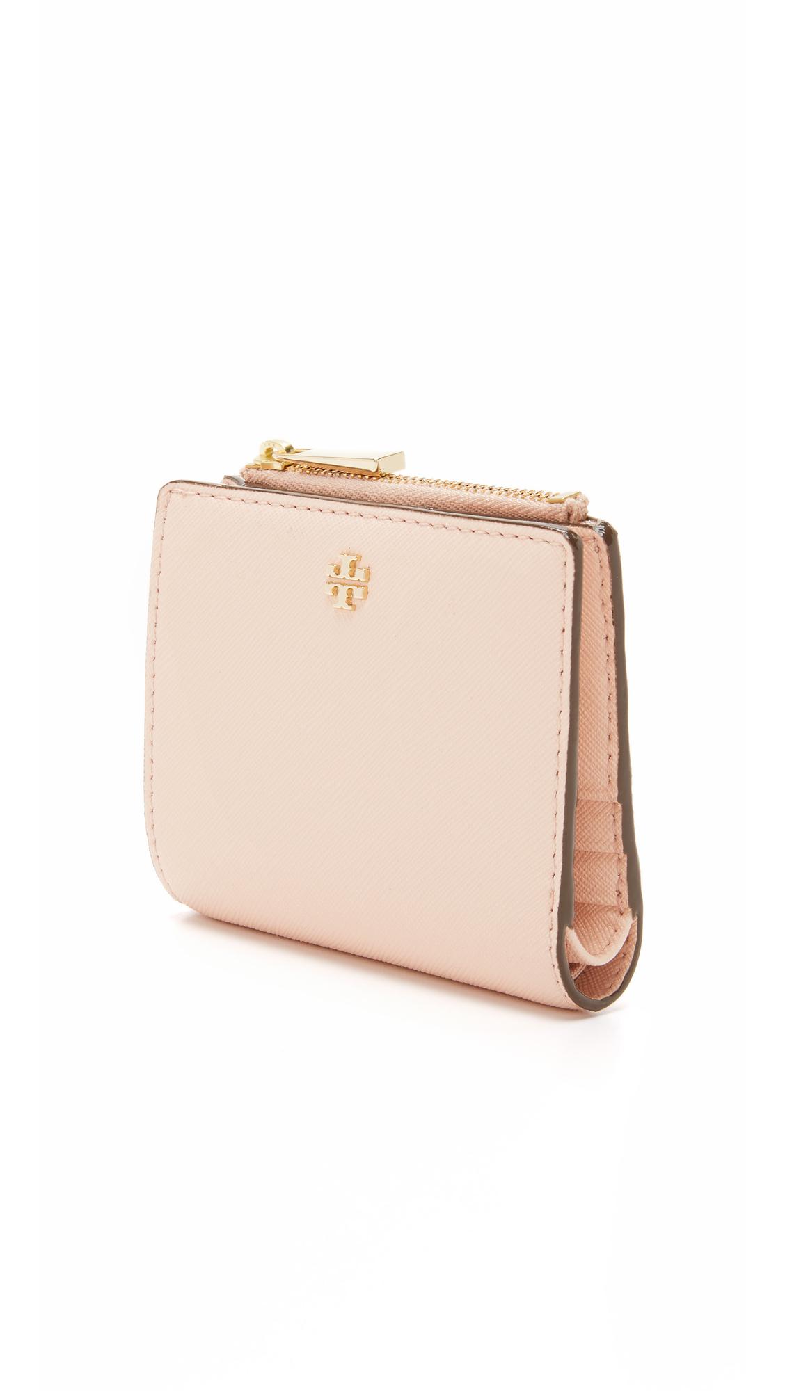 Tory Burch Robinson Mini Wallet In Pink Lyst