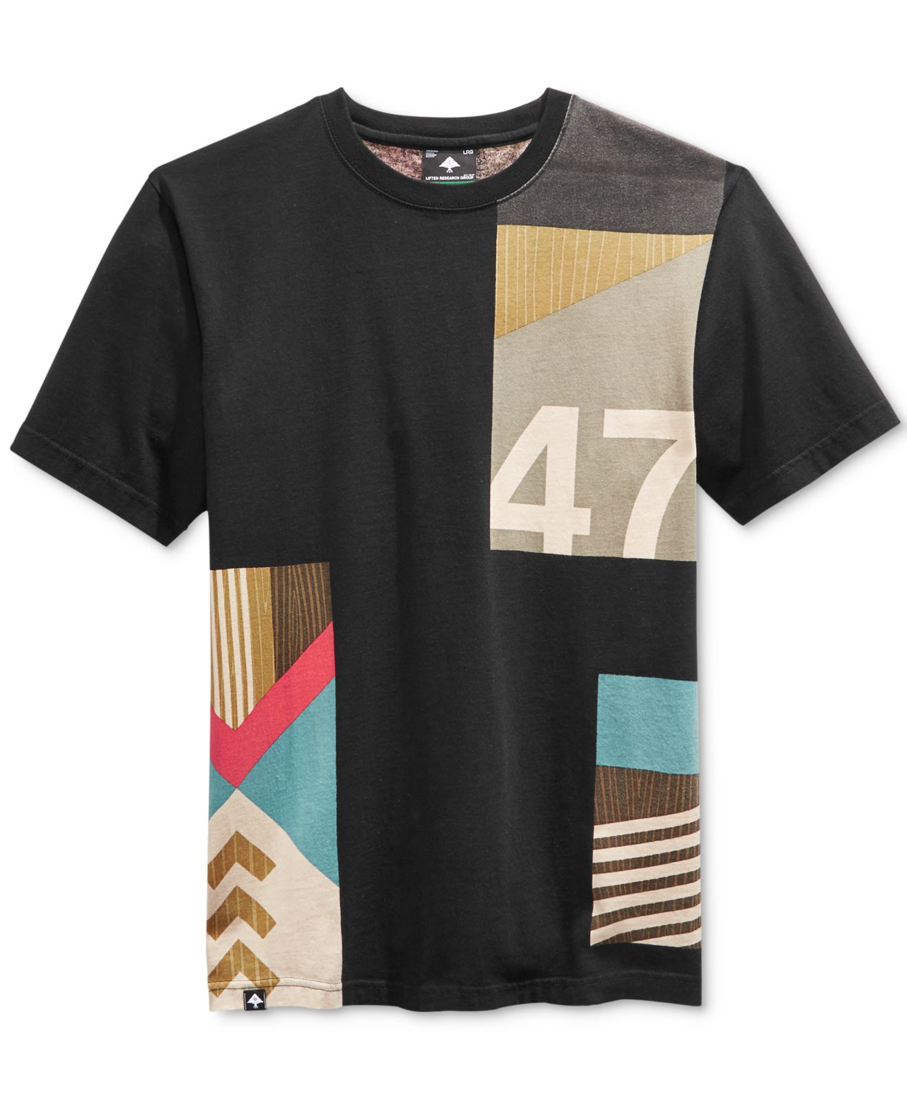 Lrg men 39 s big tall paddle team graphic print t shirt in for Big and tall printed t shirts