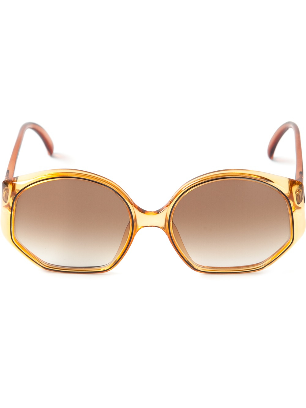 Dior Glasses Frame 2014 : Dior Round Frame Sunglasses in Gold (brown) Lyst