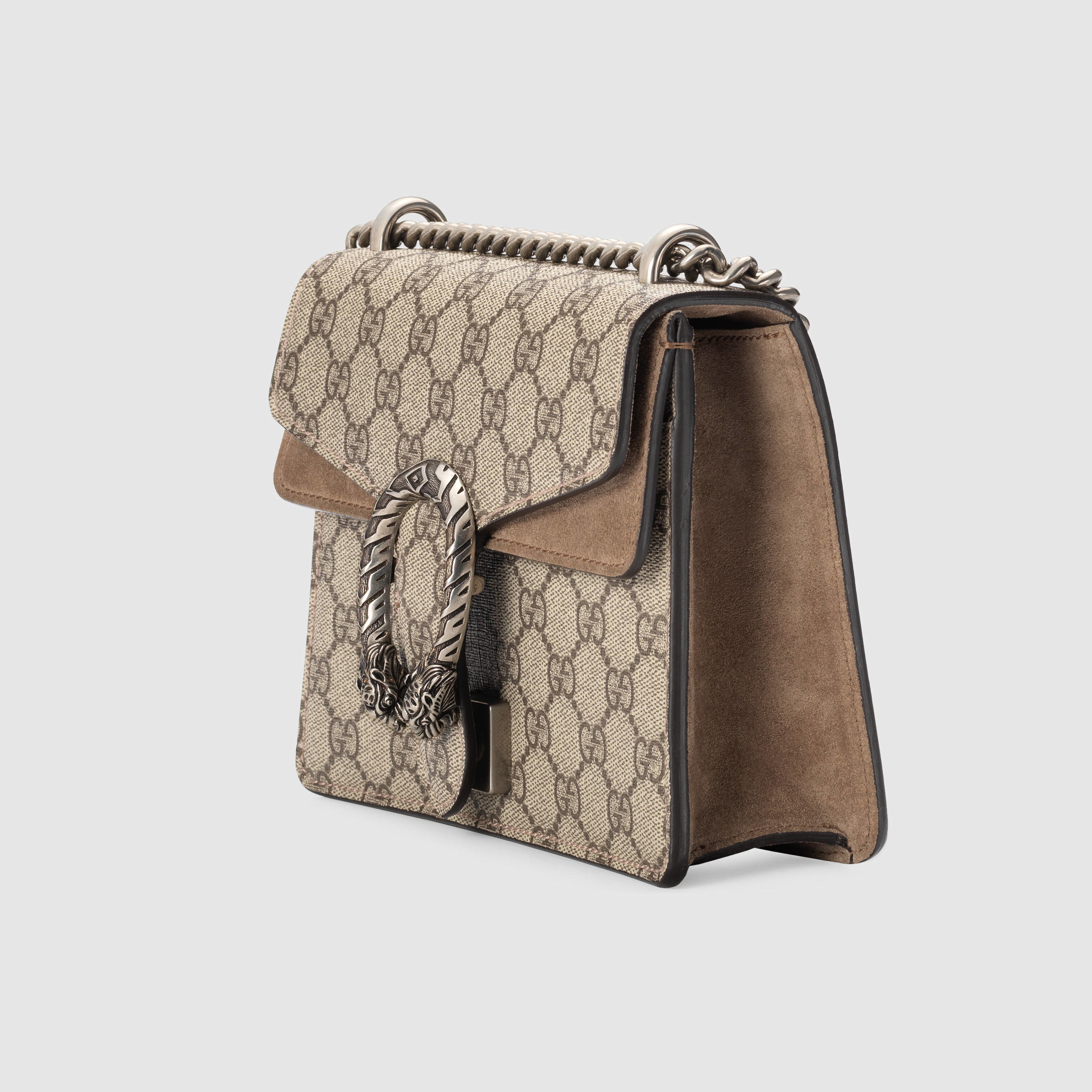 a2a1e94b329c Gucci Dionysus GG Supreme Canvas And Suede Shoulder Bag in Gray