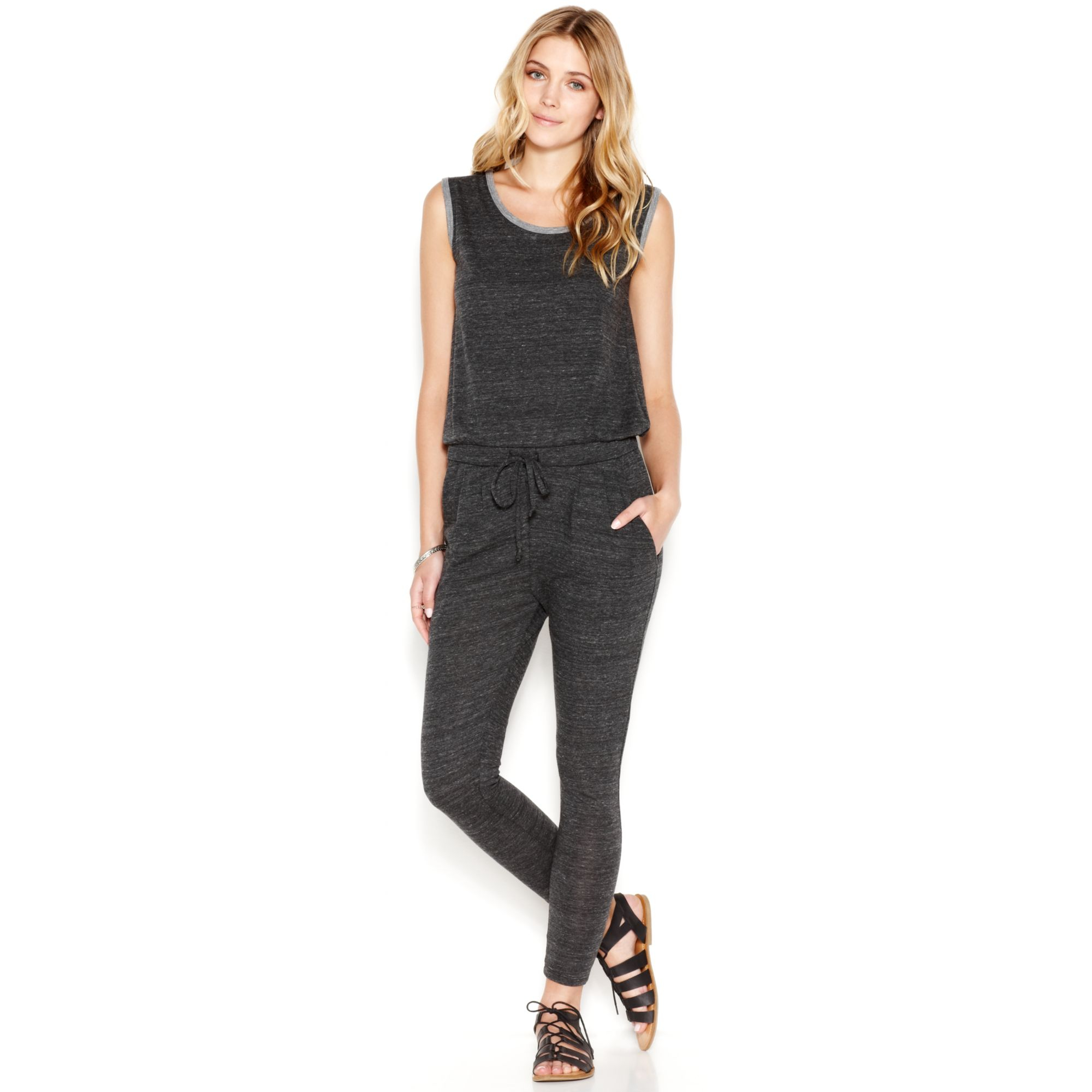 73df716b502 Lyst - Alternative Apparel Santa Cruz Jumpsuit in Black