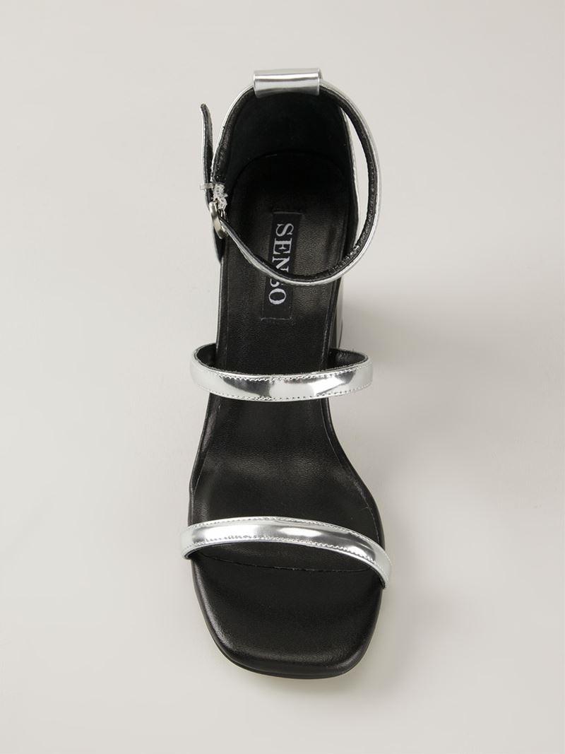 Lyst Senso Robbie Ii Sandal In Metallic