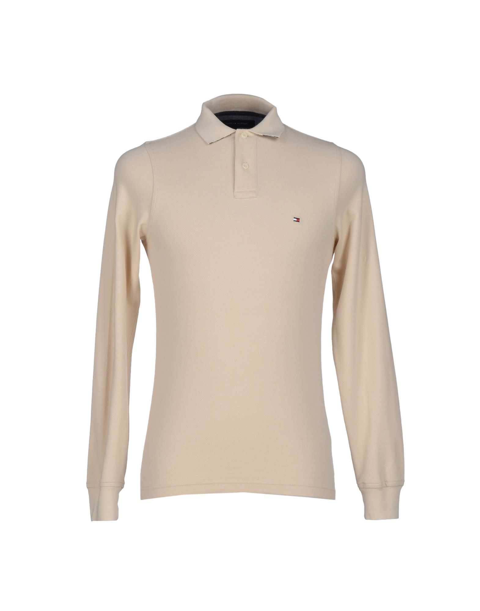 tommy hilfiger polo shirt in beige for men lyst. Black Bedroom Furniture Sets. Home Design Ideas