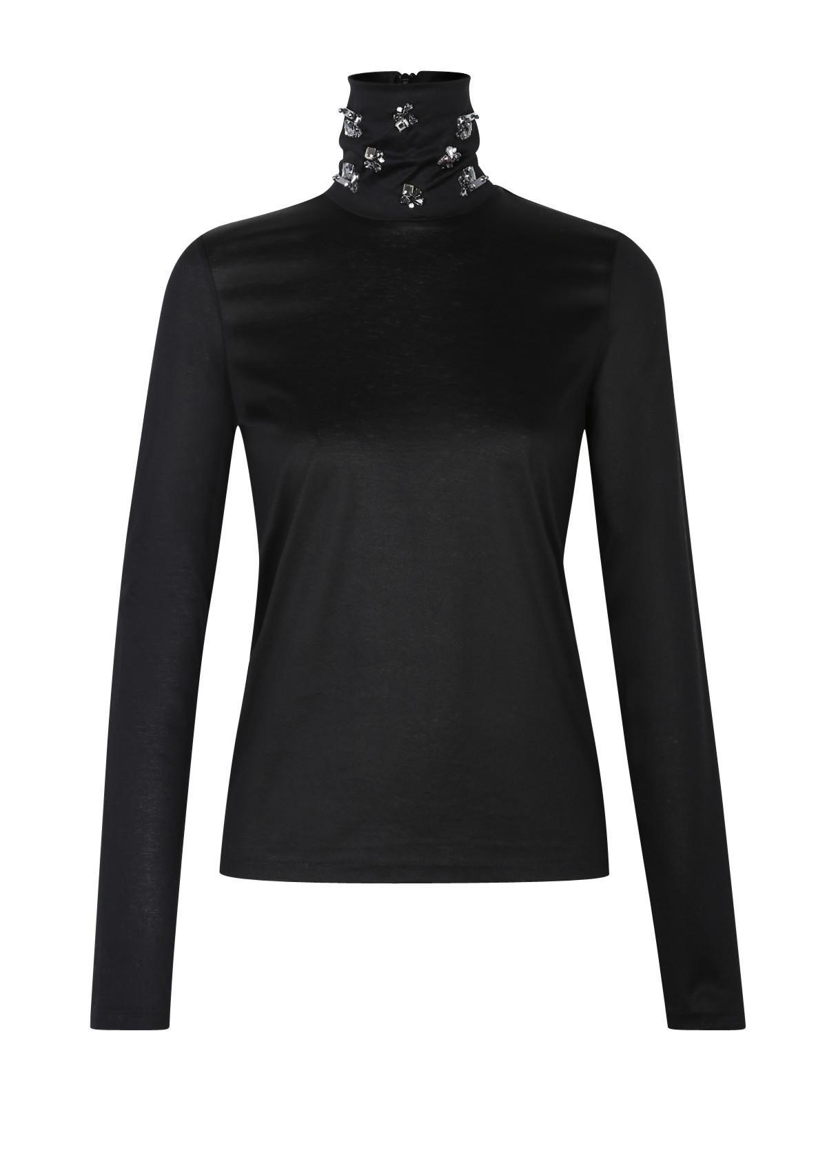 dorothee schumacher multiple visions shirt turtleneck 1 1 in black lyst. Black Bedroom Furniture Sets. Home Design Ideas
