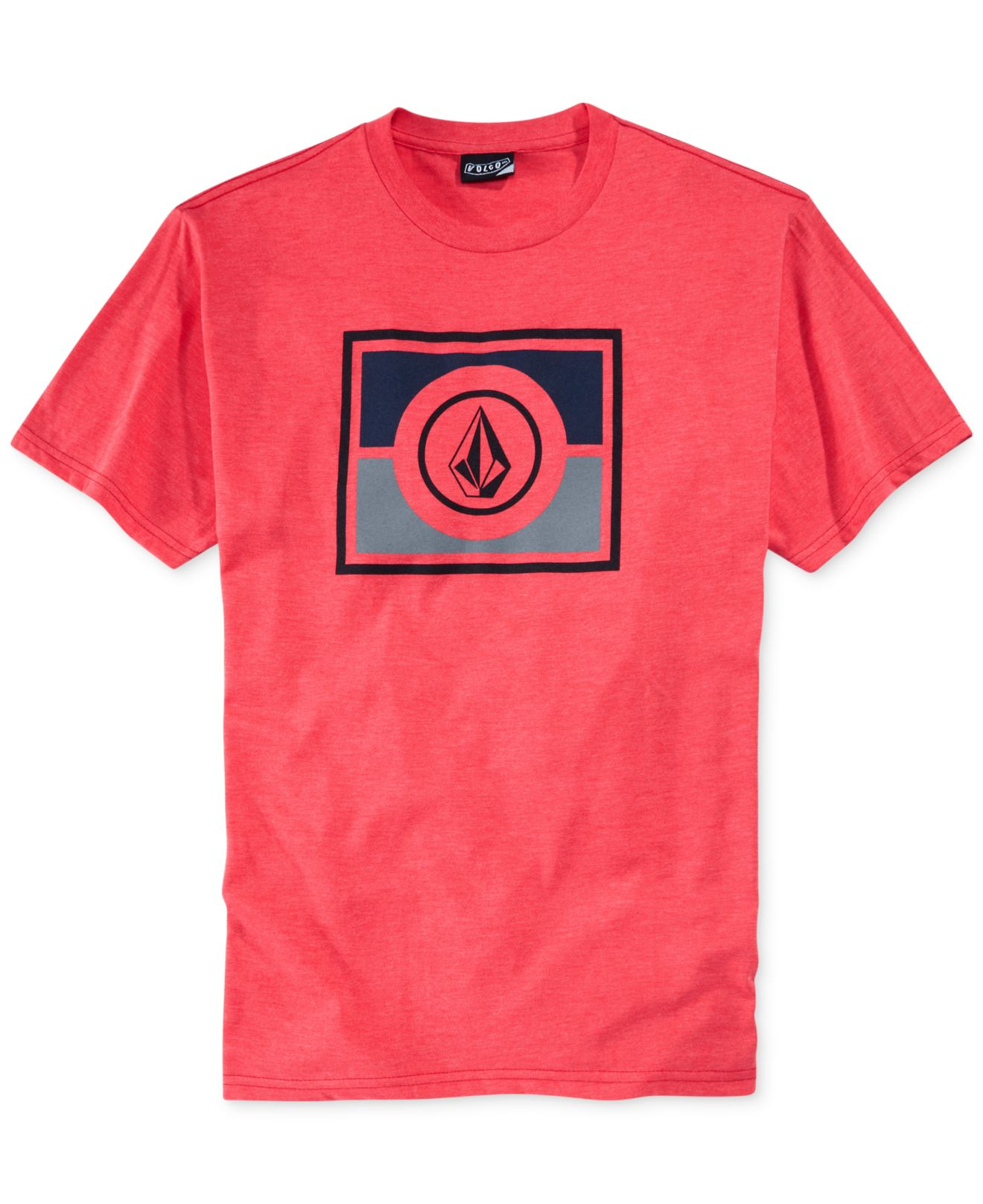 lyst volcom partis tshirt in pink for men