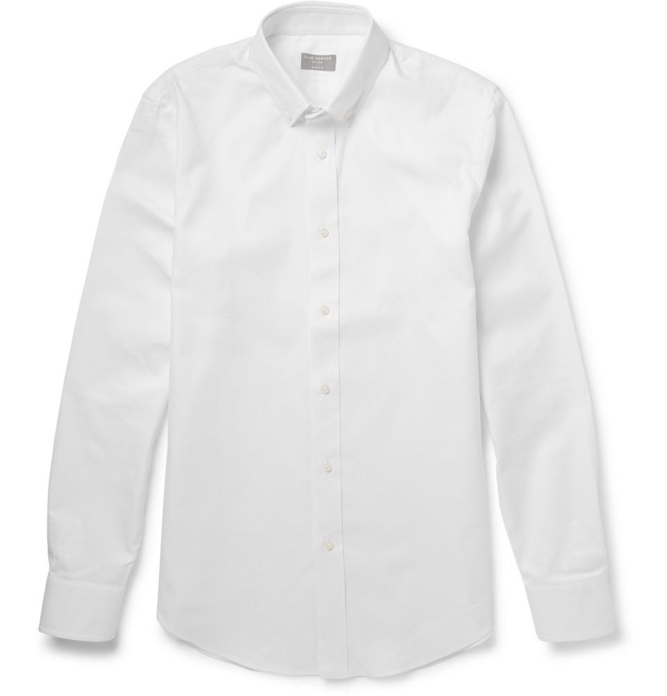 Club Monaco Button-down Collar Cotton Oxford Shirt - Light blue Discount Professional 3fJki