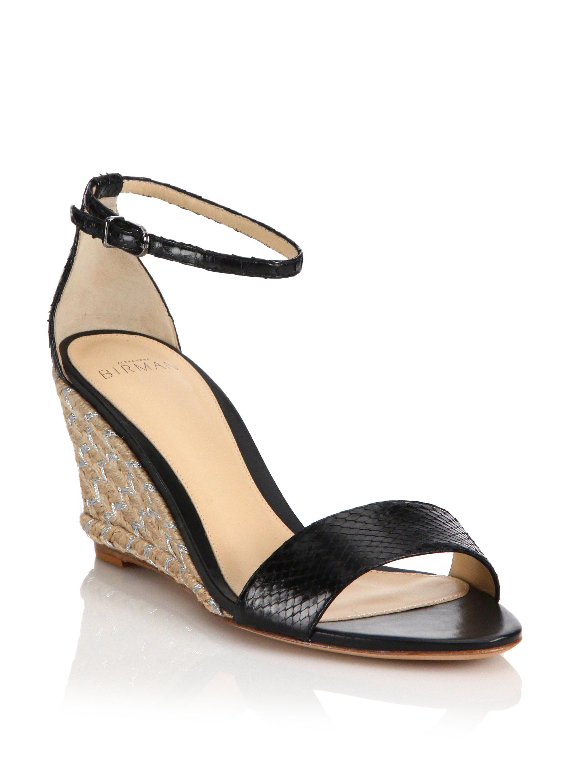 Lyst Alexandre Birman Python Espadrille Wedge Sandals In