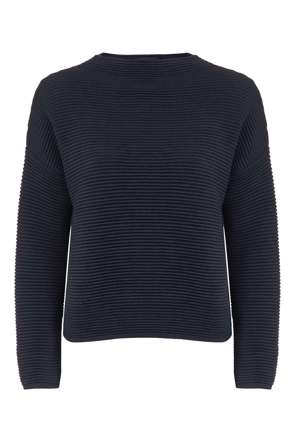 Topshop Horizontal Rib Sweatshirt in Blue | Lyst