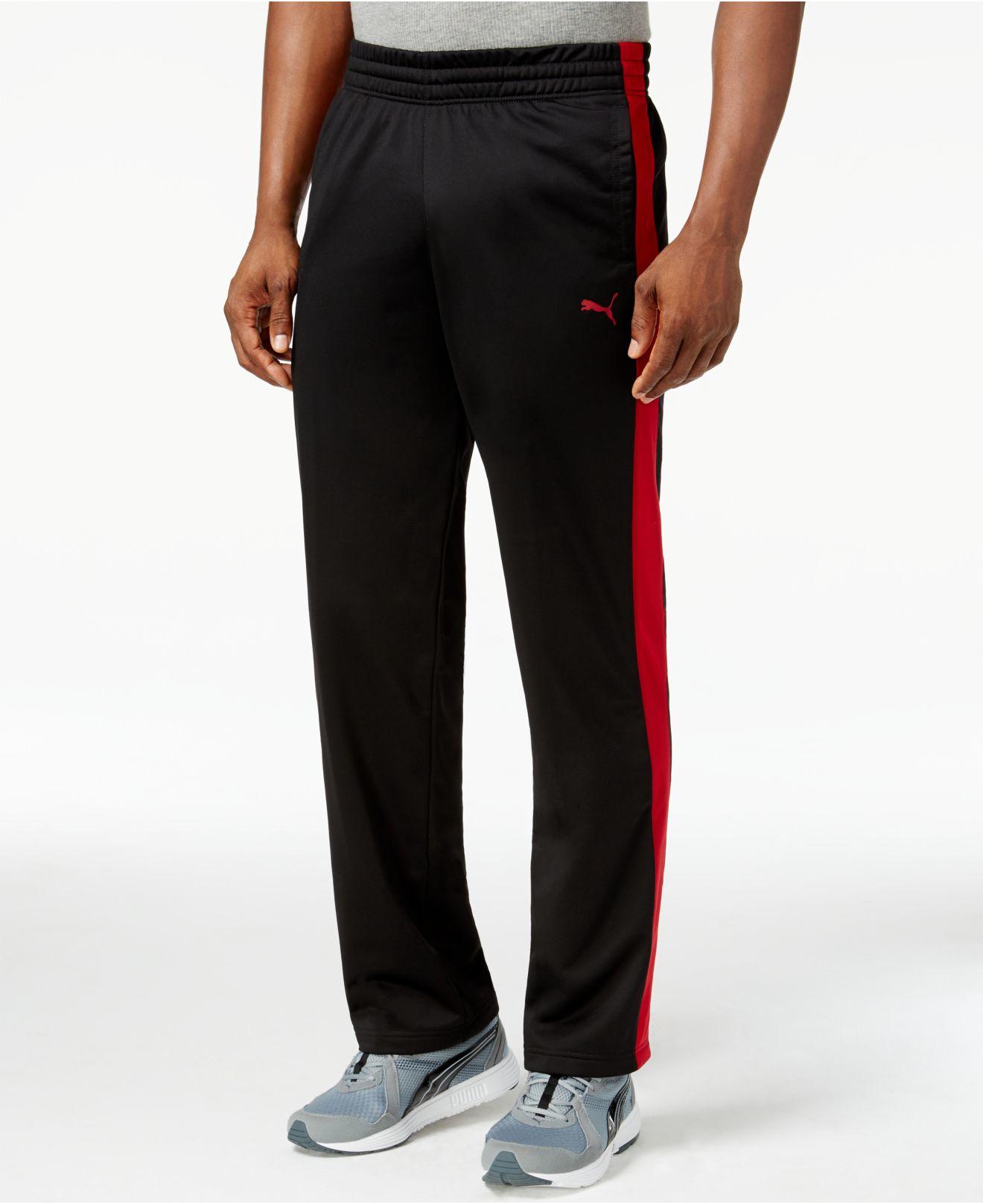 950834272e3e Lyst - PUMA Men s Tricot Contrast Track Pants in Black