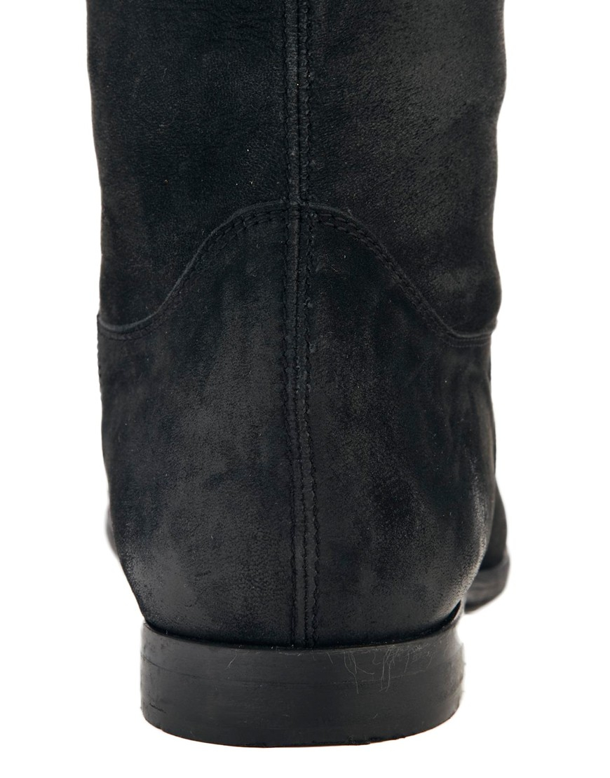 Asos Keep It Up Leather Thigh High Boots in Black   Lyst