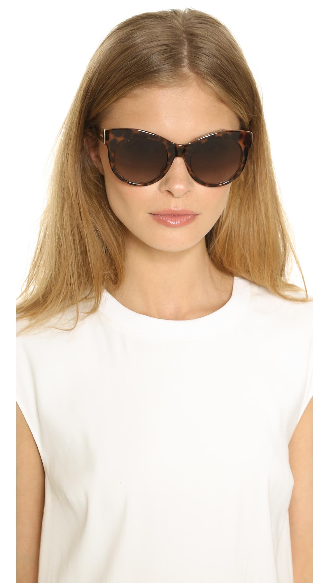 6116952faa Lyst - Gucci Floral Leopard Sunglasses