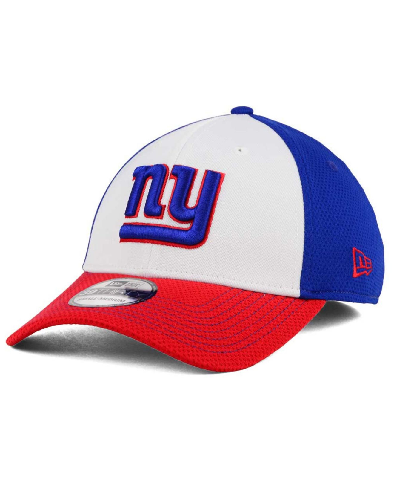 new product 5fc5c 98060 KTZ New York Giants Chase White Front Mesh 39thirty Cap in Blue for ...