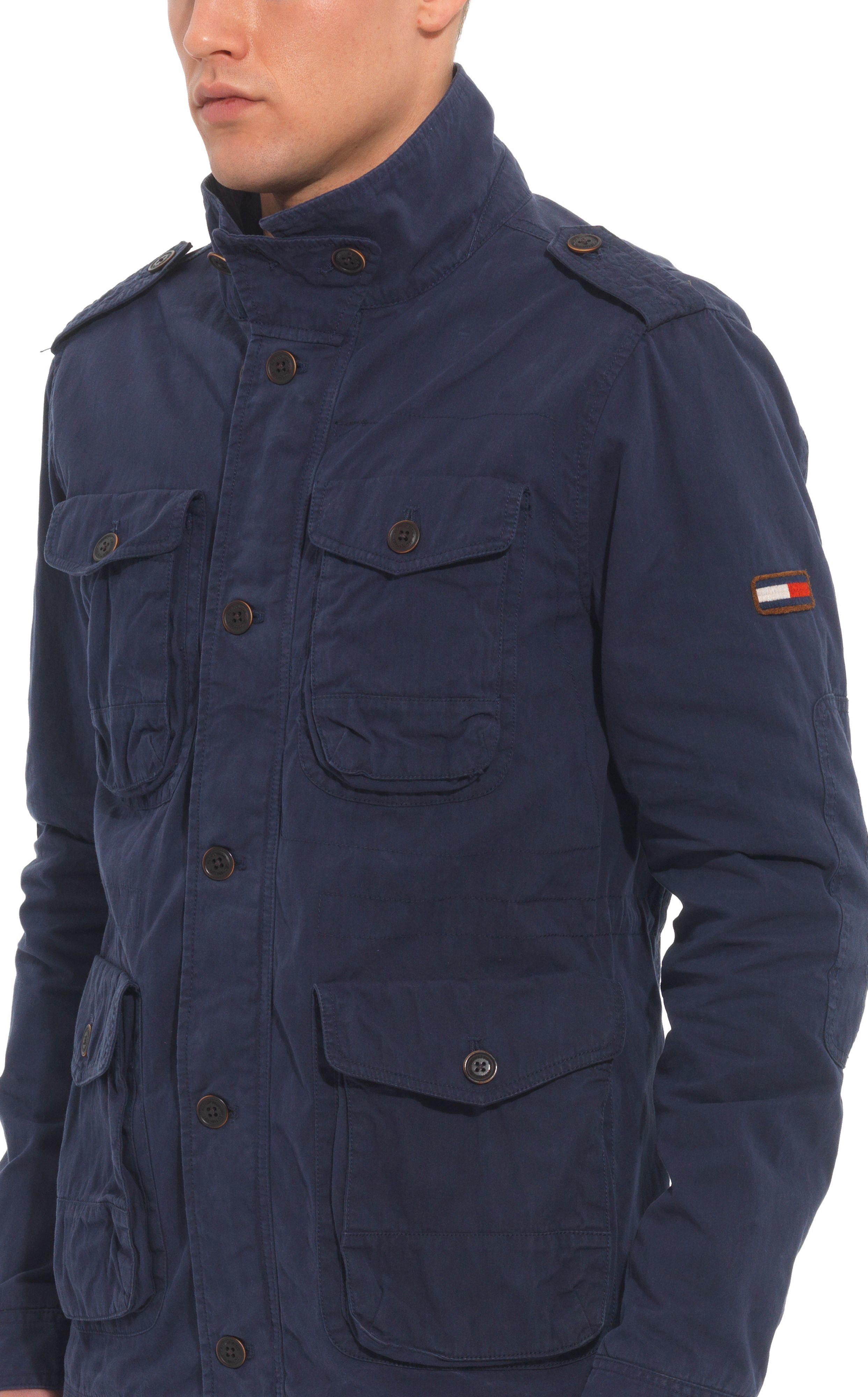 Tommy Hilfiger Padget Casual Full Zip Field Jacket In Blue