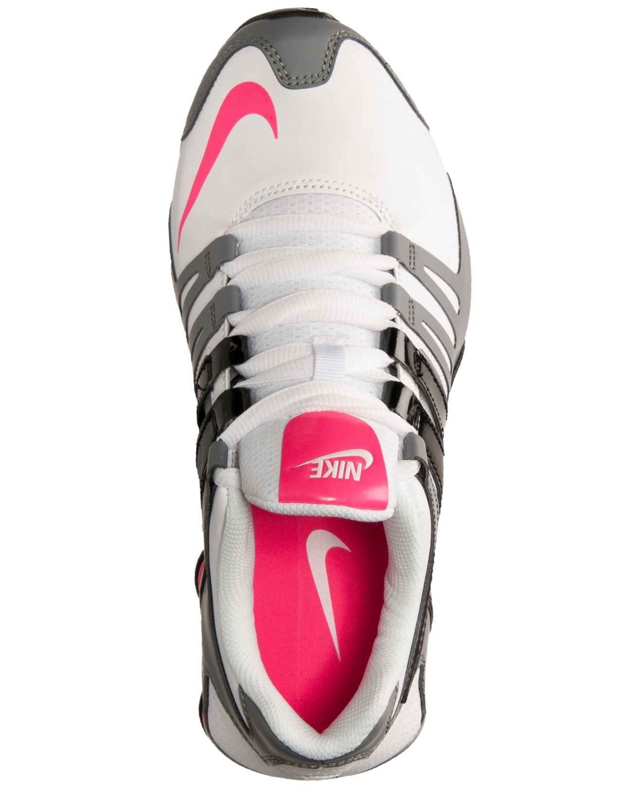 new concept 1afb4 245b6 Nike Women s Shox Current Running Sneakers From Finish Line in Pink ...