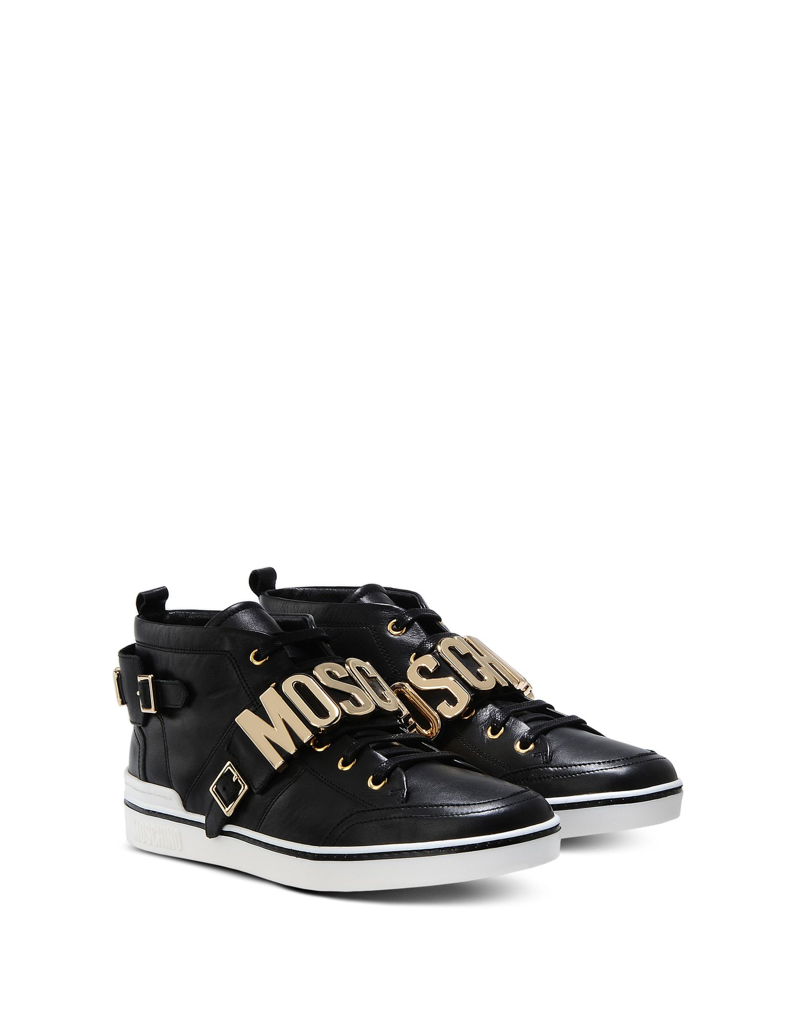 Lyst Moschino Sneakers In Black For Men