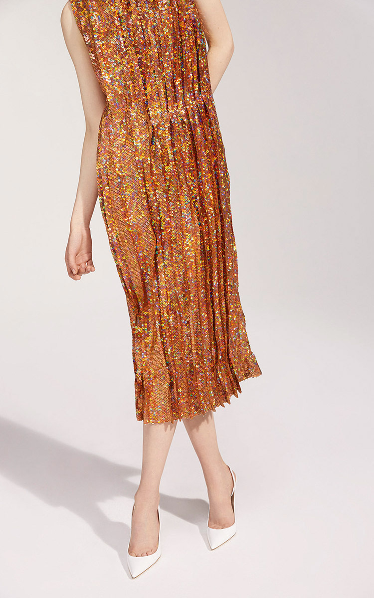 Nina ricci Sleeveless Sequin Dress in Brown | Lyst