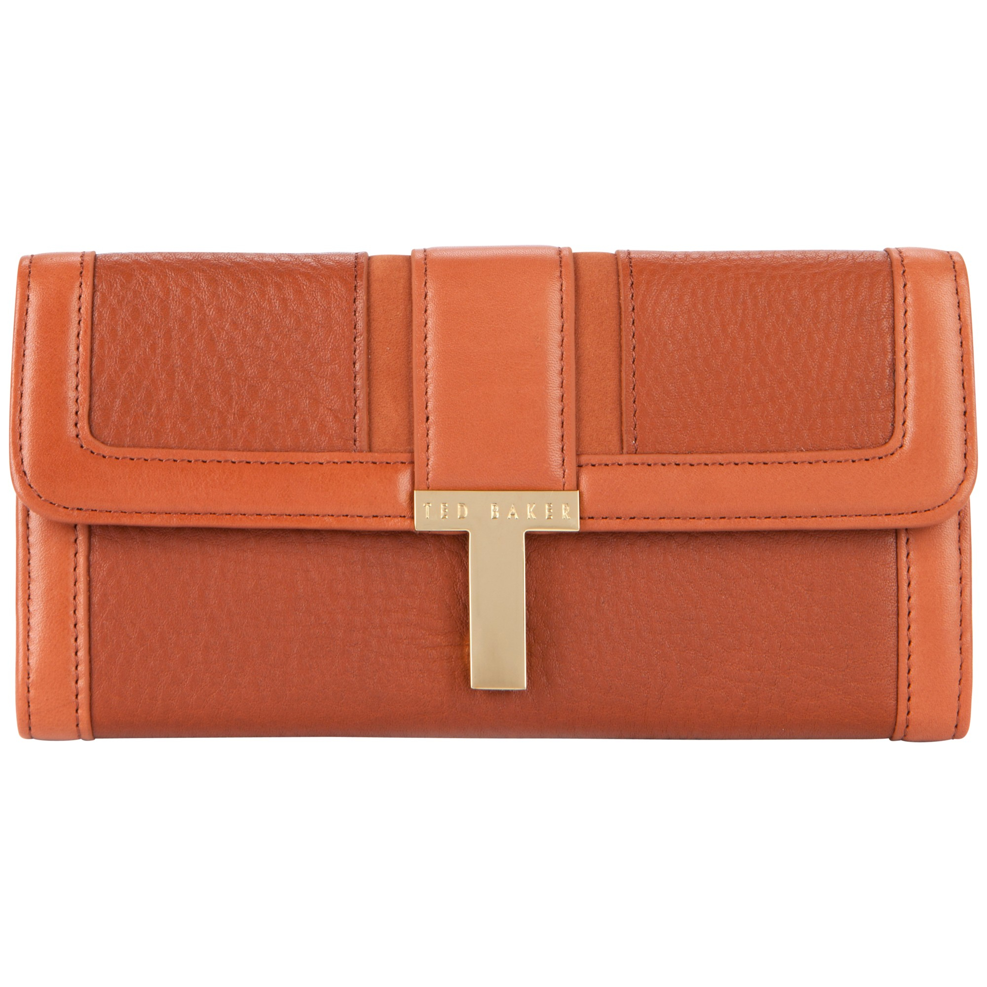 Ted baker Aspines T Keeper Purse in Orange (Black) | Lyst