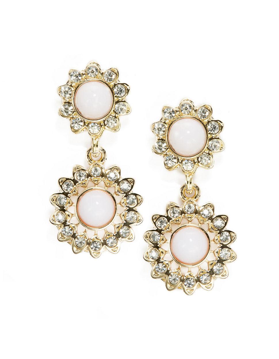 r j graziano floral drop earrings in metallic lyst