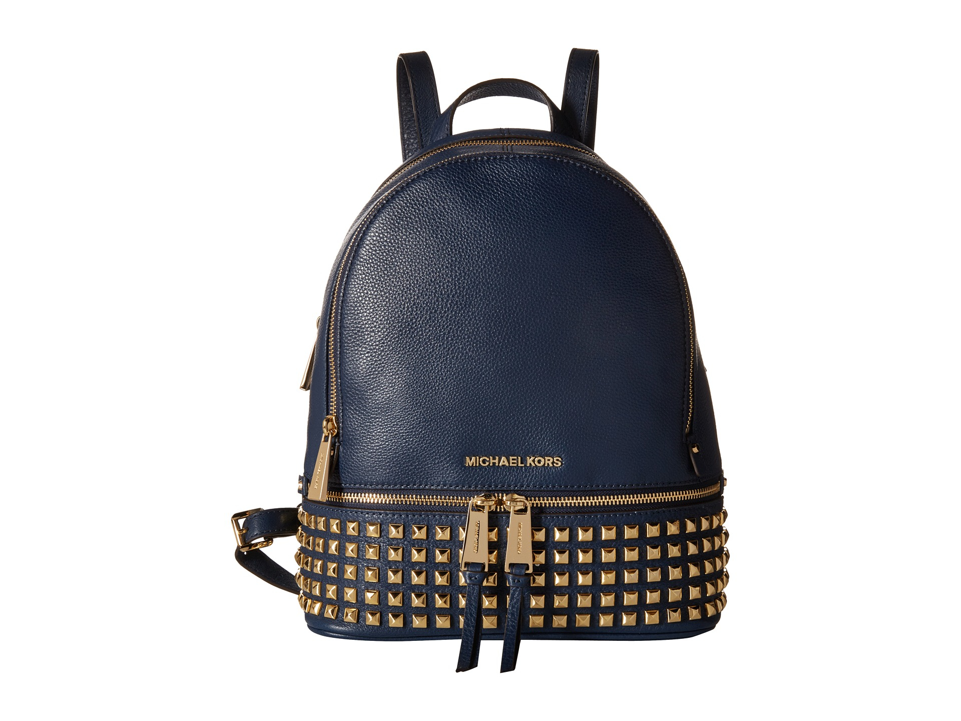 michael michael kors rhea zip small studded backpack in. Black Bedroom Furniture Sets. Home Design Ideas