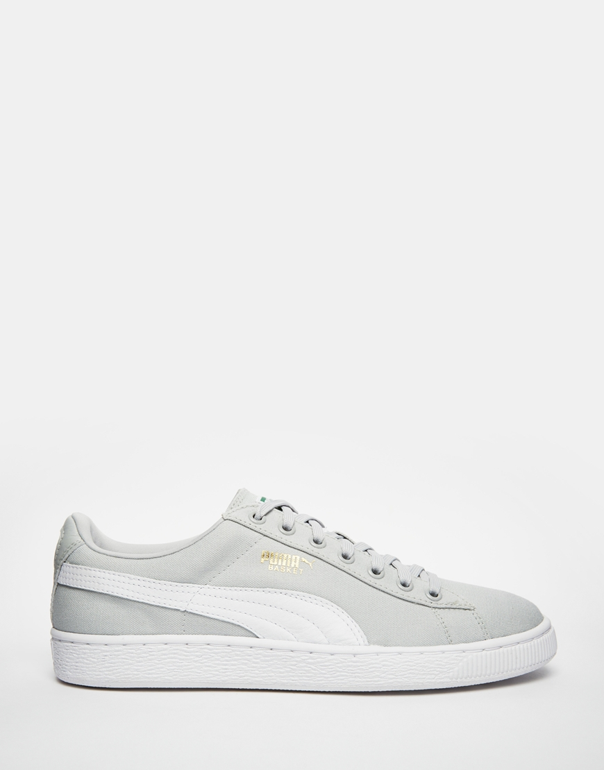 Lyst - PUMA Basket Classic Canvas Sneakers in Gray for Men 2dabae86d