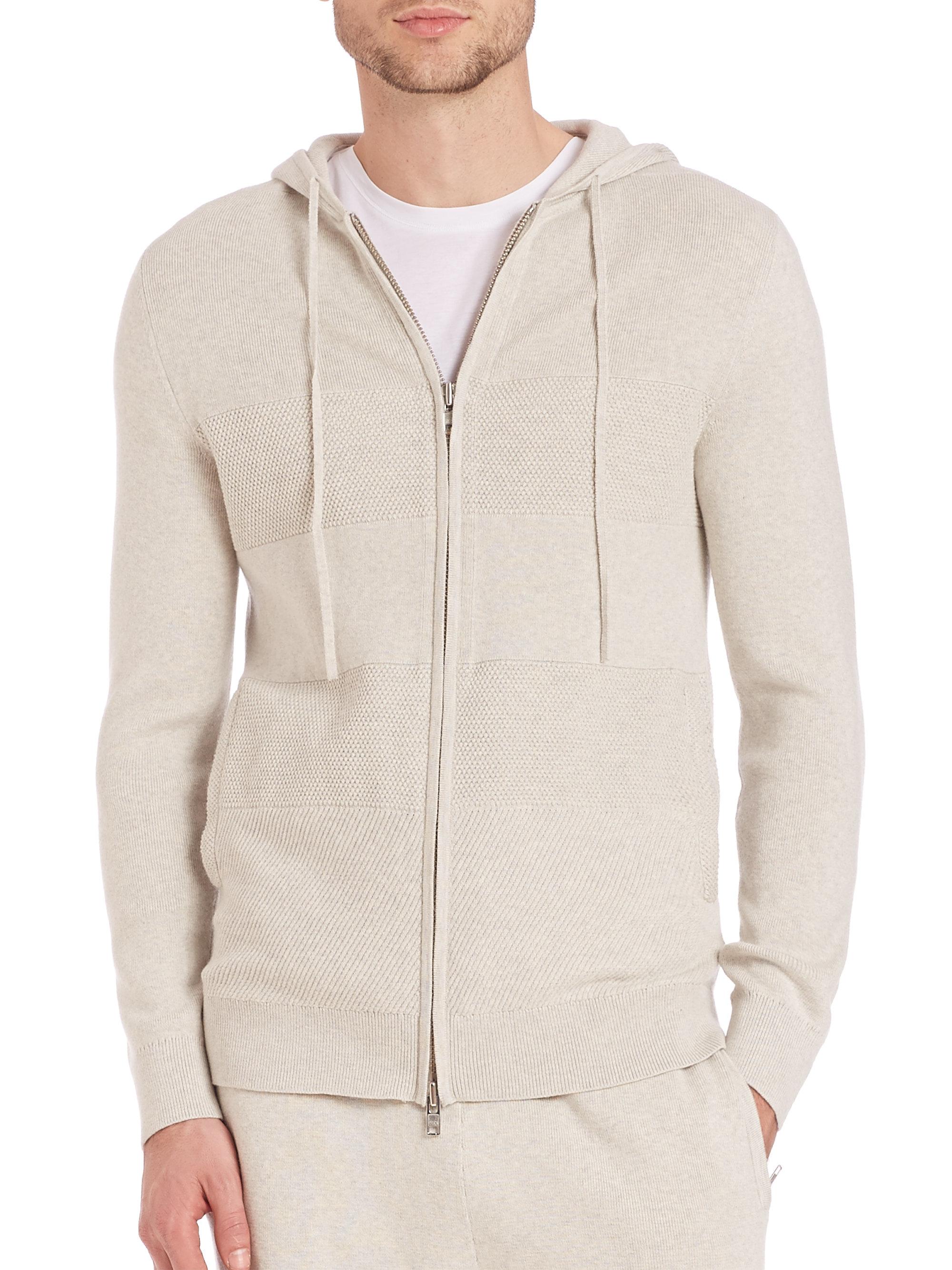 Cashmere zip up hoodie